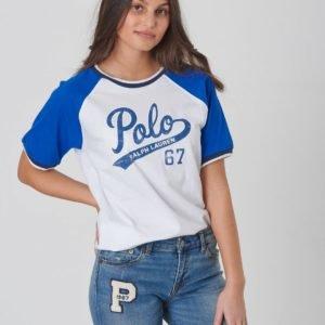 Ralph Lauren Bball Tee Tops T Shirt T-Paita Valkoinen