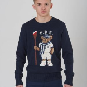 Ralph Lauren Bear Cn Swtr Tops Sweater Neule Sininen