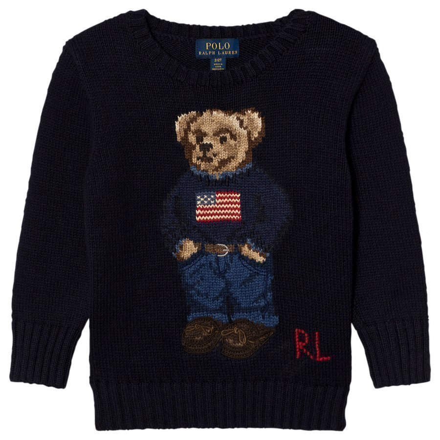 Ralph Lauren Bear Infant Sweater Navy Oloasun Paita