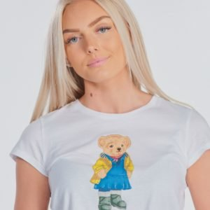 Ralph Lauren Bear Tee Tops Knit T-Paita Valkoinen
