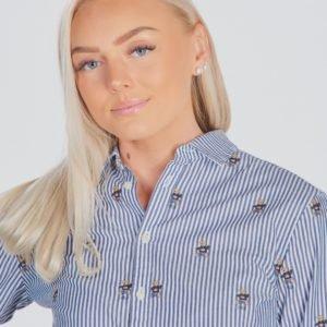Ralph Lauren Bear Tunic Tops Shirt Kauluspaita Sininen