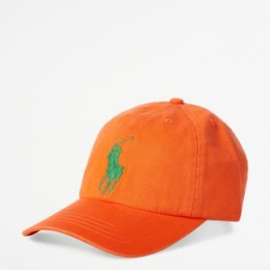 Ralph Lauren Big Pp Cap Apparel Accessories Hat Lippis Oranssi