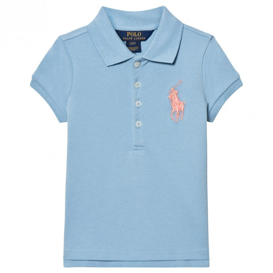 Ralph Lauren Blue Big Pony Pique Polo Pikeepaita