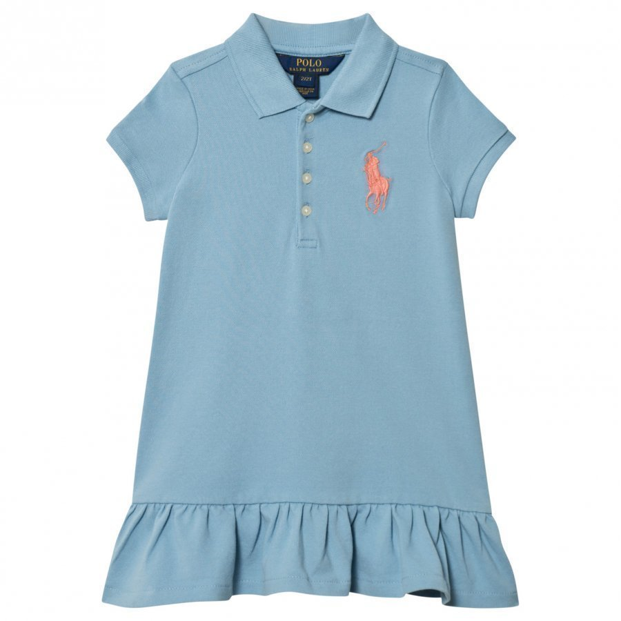 Ralph Lauren Blue Big Pony Polo Dress Pikeemekko
