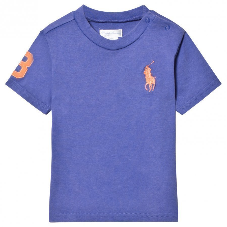 Ralph Lauren Blue Big Pony Tee Pikeepaita