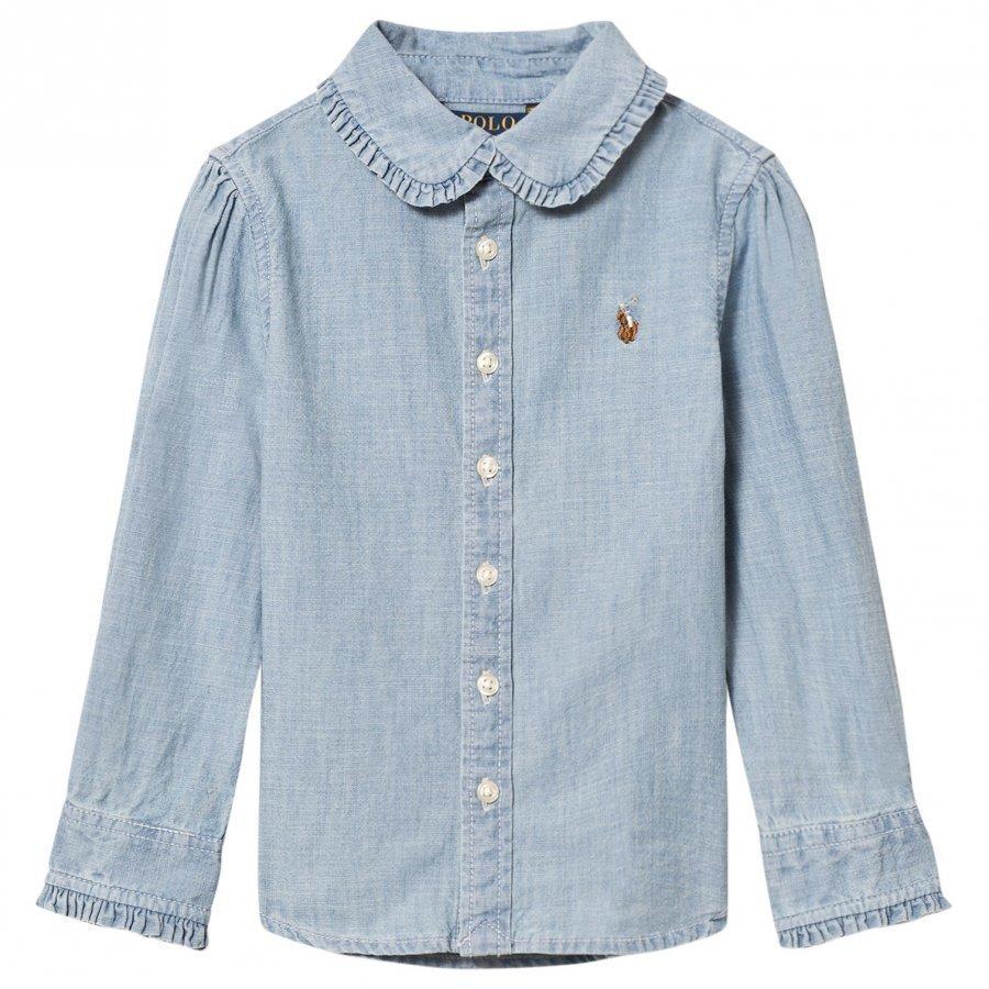 Ralph Lauren Blue Chambray Shirt Kauluspaita