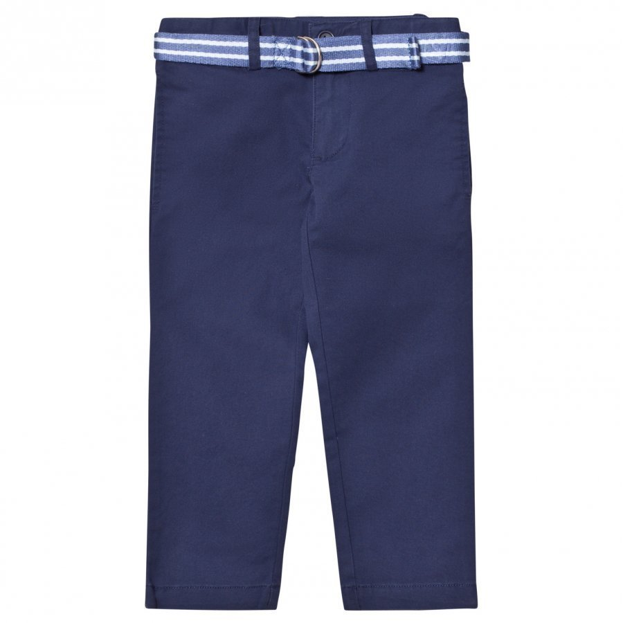 Ralph Lauren Blue Chinos With Belt Chinos Housut