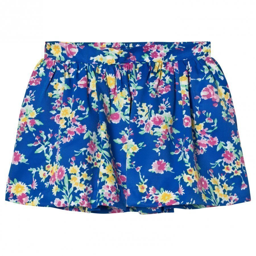 Ralph Lauren Blue Floral Skirt Lyhyt Hame