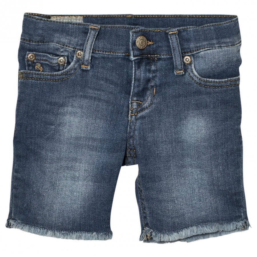 Ralph Lauren Blue Mid Wash Denim Shorts Farkkushortsit