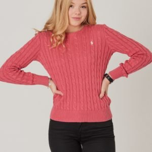 Ralph Lauren Cable Cn Sweater Neule Punainen