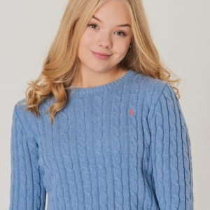Ralph Lauren Cable Cn Sweater Neule Sininen
