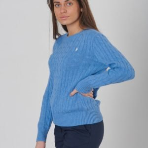 Ralph Lauren Cable Cn Tops Sweater Neule Sininen