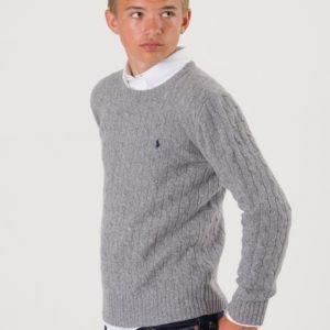 Ralph Lauren Cable Crewneck Sweater Neule Harmaa