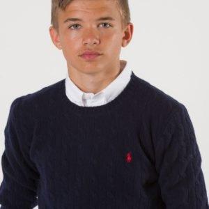 Ralph Lauren Cable Crewneck Sweater Neule Sininen