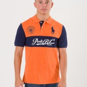 Ralph Lauren Chest Stripe Knit Sweater Pikee Oranssi
