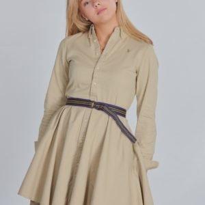 Ralph Lauren Chino Dress Dresses Woven Mekko Beigestä
