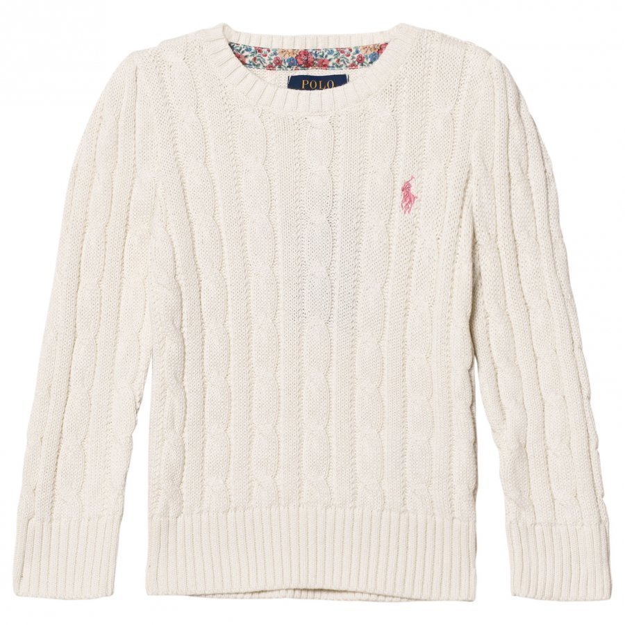 Ralph Lauren Classic Cable Knit Sweater Warm White Oloasun Paita