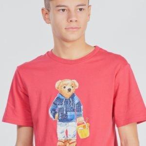 Ralph Lauren Cn Tops T Shirt T-Paita Punainen