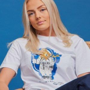 Ralph Lauren Cn Tops T Shirt T-Paita Valkoinen