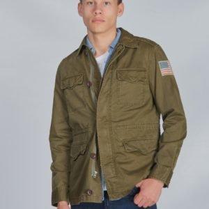 Ralph Lauren Combat Jacket Outerwear Jacket Takki Vihreä