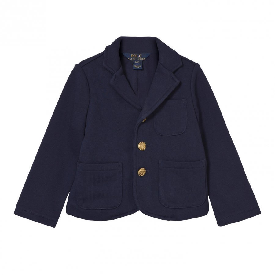 Ralph Lauren Cotton-Blend Blazer French Navy Tikkitakki