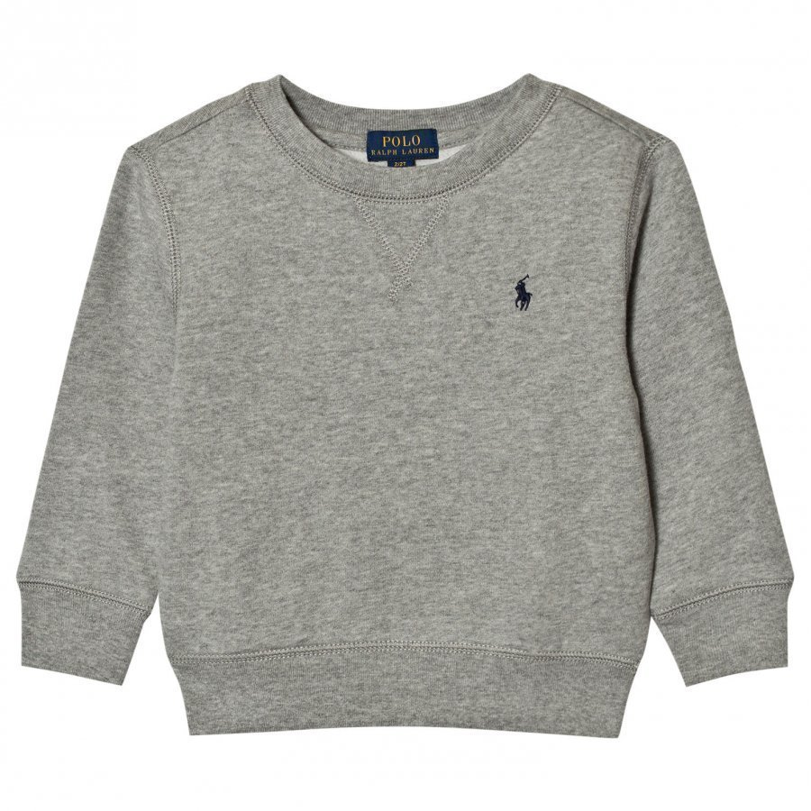 Ralph Lauren Cotton-Blend Fleece Sweatshirt Grey Oloasun Paita