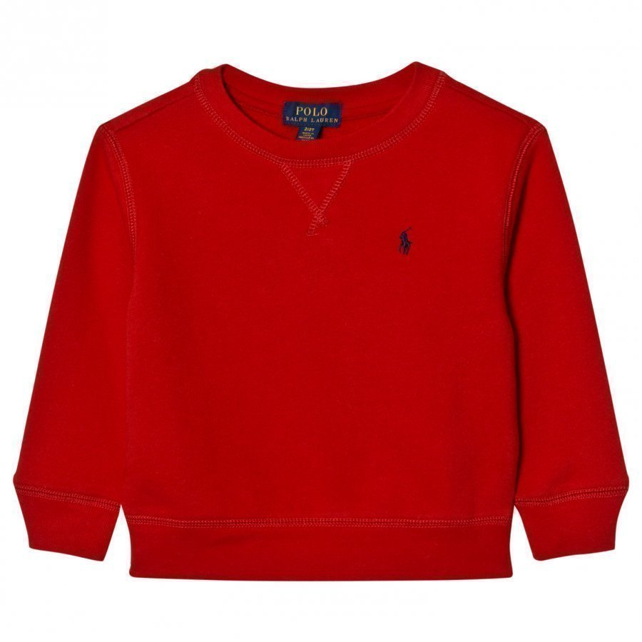 Ralph Lauren Cotton-Blend Fleece Sweatshirt Red Oloasun Paita