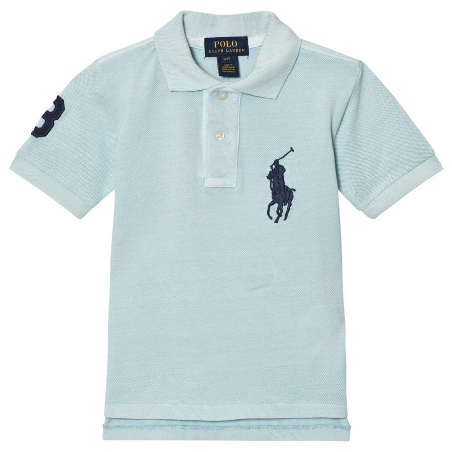 Ralph Lauren Cotton Mesh Polo Shirt Coastal Blue Pikeepaita