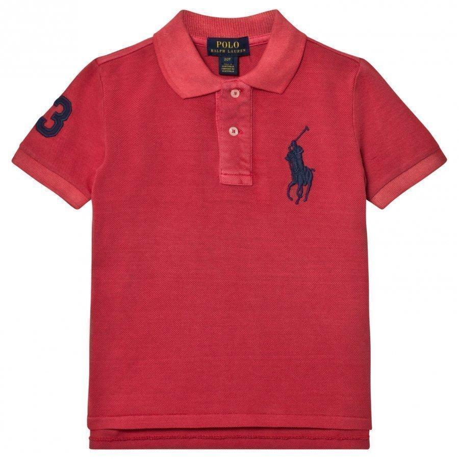 Ralph Lauren Cotton Mesh Polo Shirt Red Pikeepaita