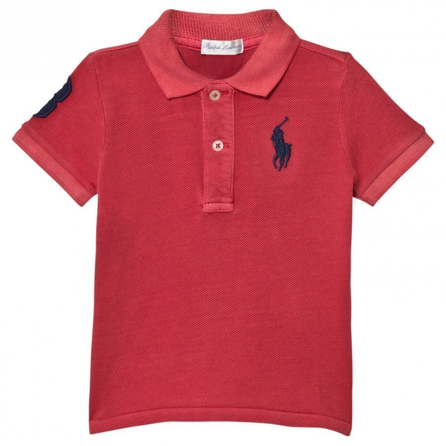 Ralph Lauren Cotton Mesh Polo Shirt Red Pikeepaita