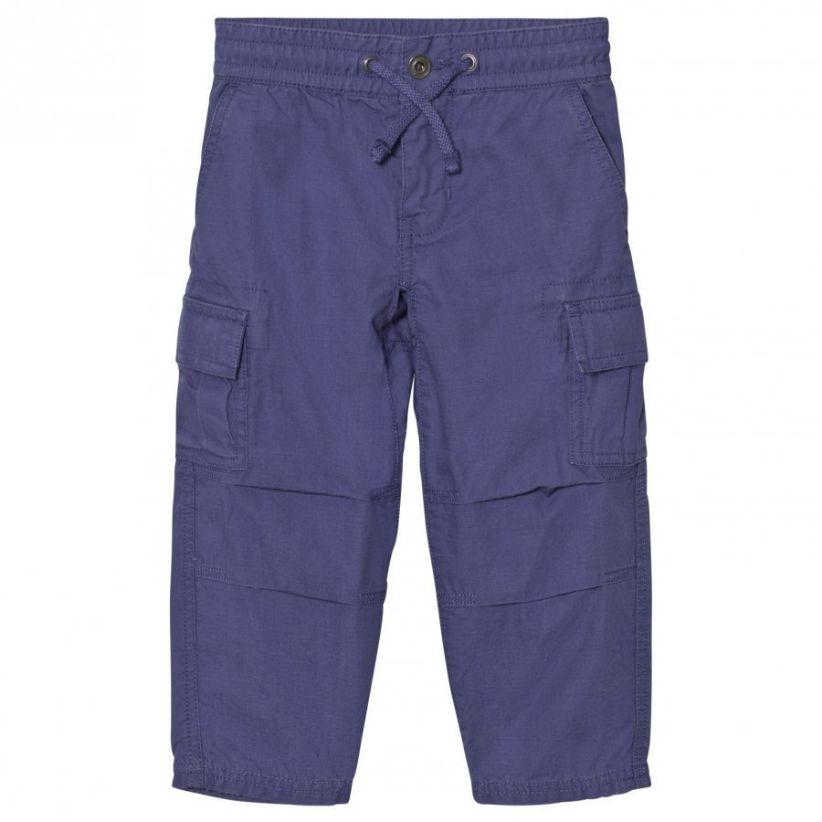 Ralph Lauren Cotton Ripstop Cargo Pants Sporting Blue Cargo Housut