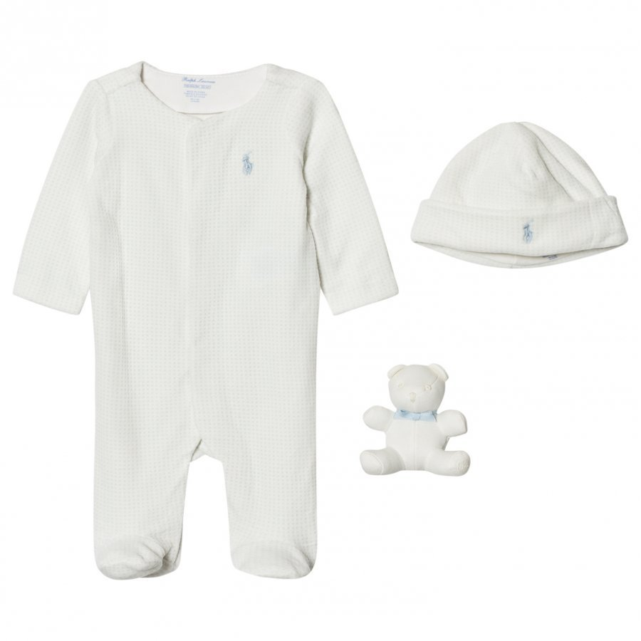 Ralph Lauren Cream Footed Baby Body Gift Set Lahjasetti