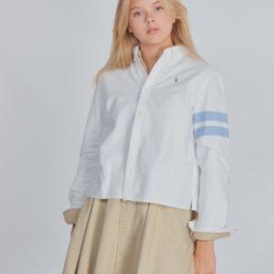 Ralph Lauren Crop Oxford Tops Shirt Kauluspaita Valkoinen