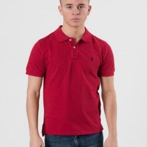 Ralph Lauren Custom Fit Polo Pikee Punainen