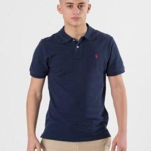 Ralph Lauren Custom Fit Polo Pikee Sininen