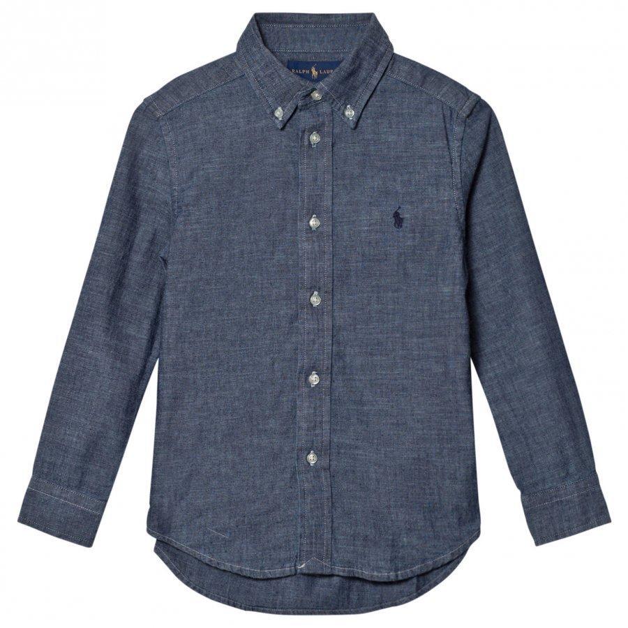 Ralph Lauren Dark Blue Chambray Shirt Kauluspaita
