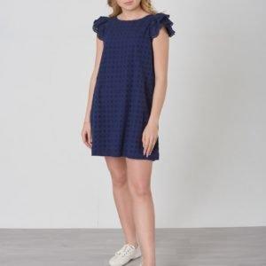 Ralph Lauren Eyelet Dress Dresses Woven Mekko Sininen