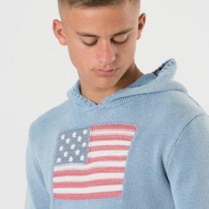 Ralph Lauren Flag Hoodie Sweater Huppari Sininen