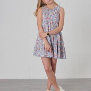 Ralph Lauren Floral Dress Dresses Knit Mekko Sininen