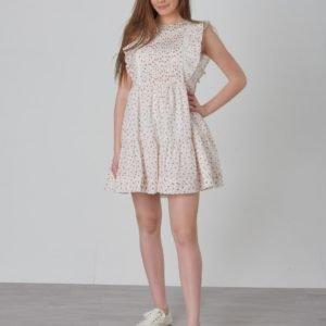Ralph Lauren Floral Dress Dresses Woven Mekko Valkoinen
