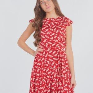 Ralph Lauren Flutter Slv Dresses Woven Mekko Punainen