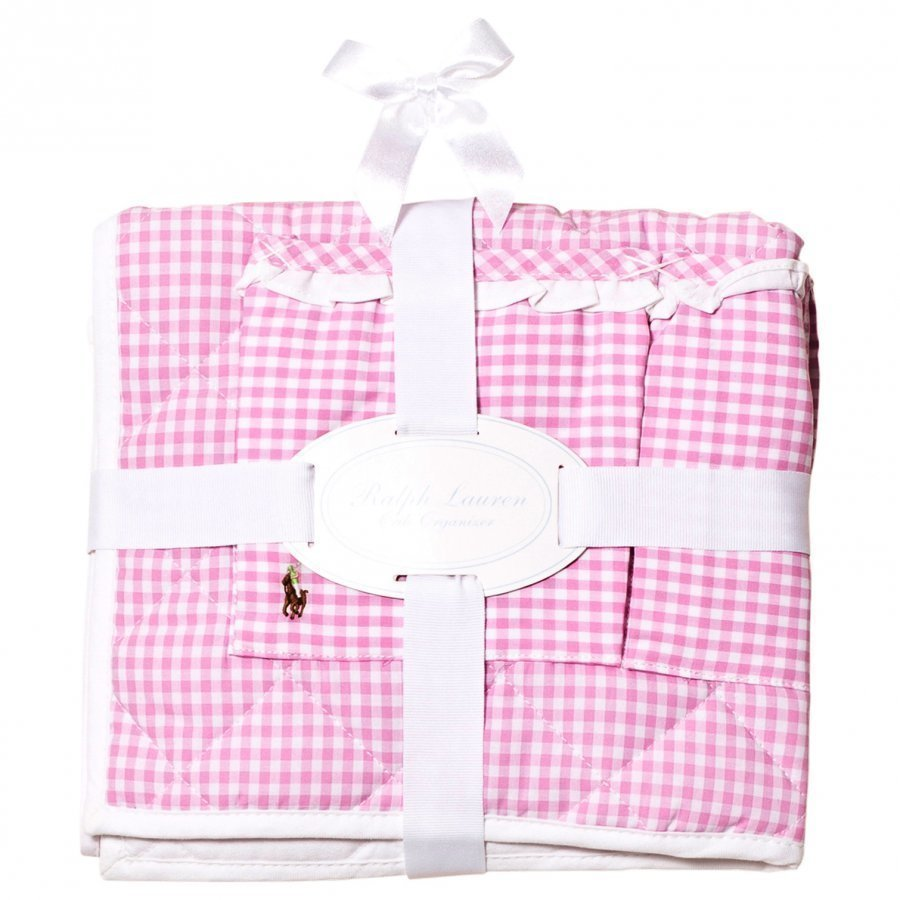 Ralph Lauren Gingham Crib Organizer Light Pink Multi Säilytyslaatikko