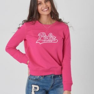Ralph Lauren Graphic Po Tops Knit Neule Vaaleanpunainen