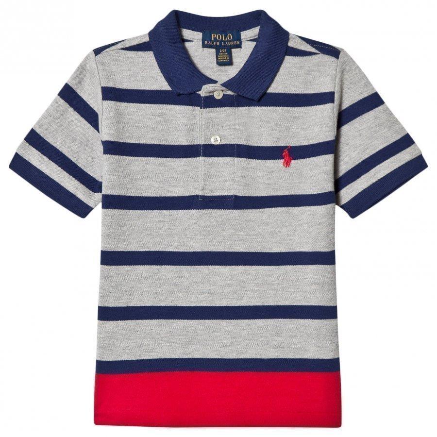 Ralph Lauren Grey Stripe Polo Shirt Pikeepaita