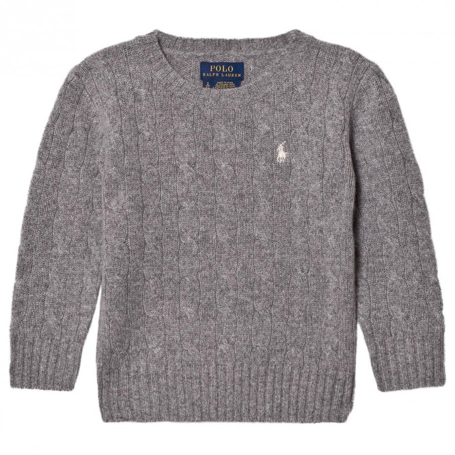 Ralph Lauren Grey Wool Knit Sweater Oloasun Paita