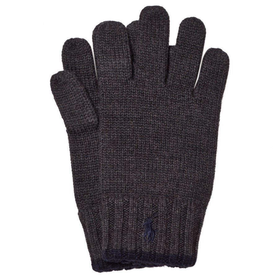 Ralph Lauren Grey/Black Merino Gloves Fleece Hanskat