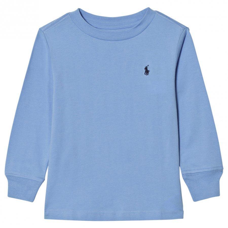 Ralph Lauren Jersey Crewneck Tee Blue Pitkähihainen T-Paita