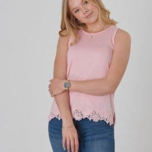 Ralph Lauren Lace Tank Tops Knit Toppi Vaaleanpunainen