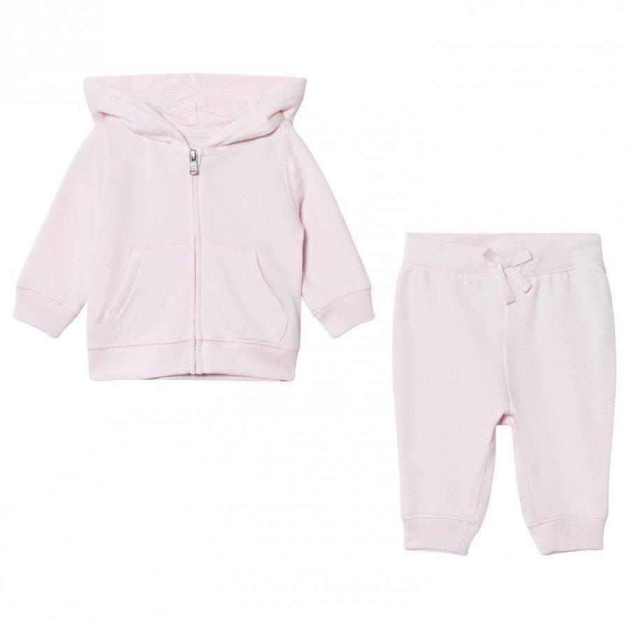 Ralph Lauren Morning Pink Infants Fleece Haalarit