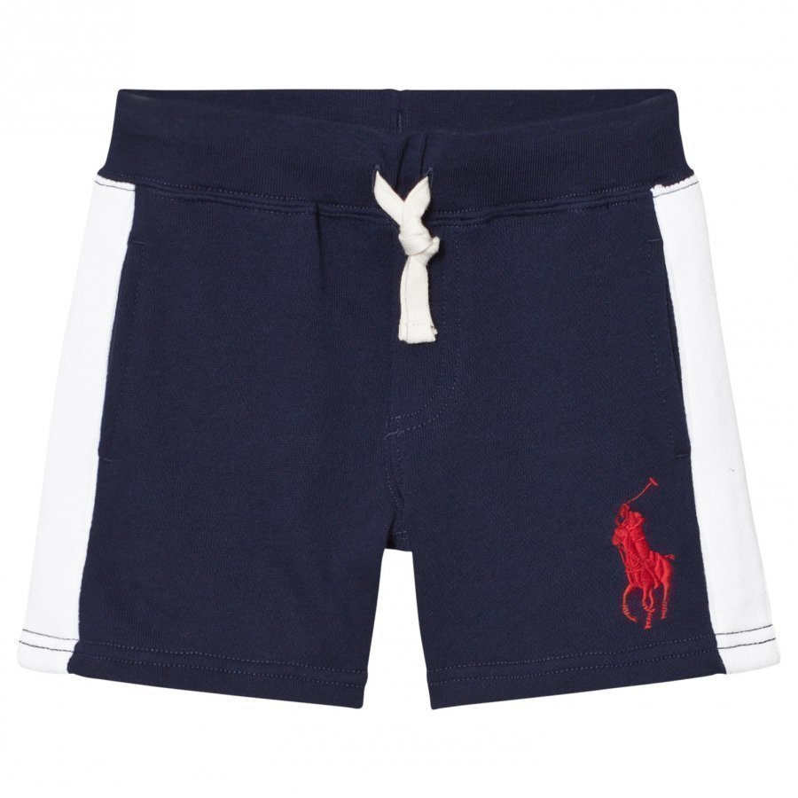 Ralph Lauren Navy And White Stripe Sweat Shorts Oloasun Shortsit